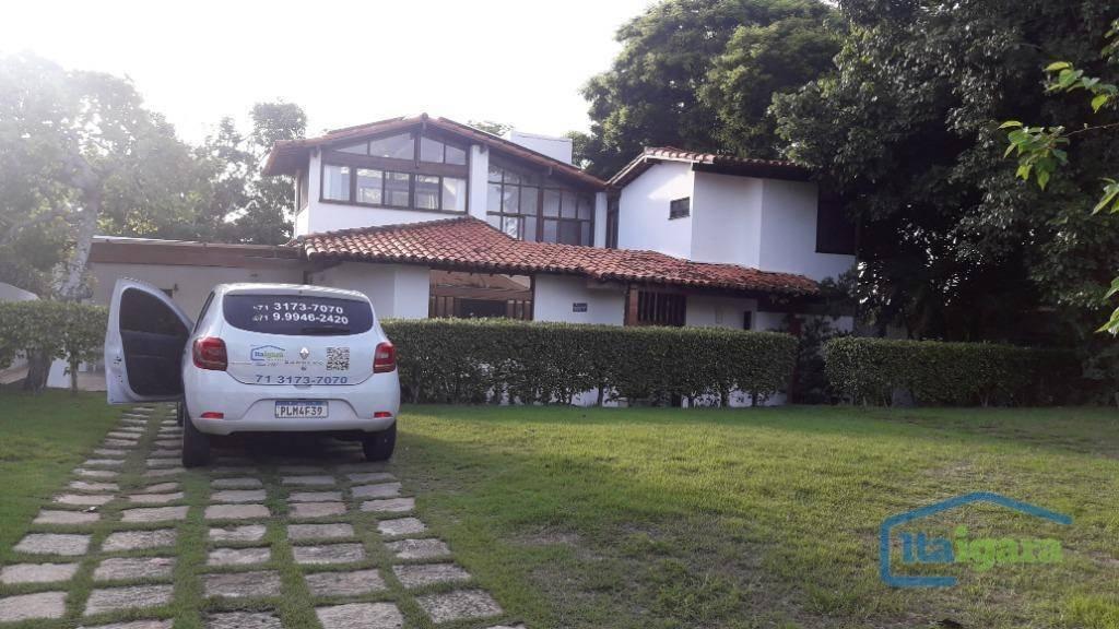 casa com 4 dormitórios à venda, 360 m² por r$ 2.250.000,00 - piatã - salvador/ba - ca0149
