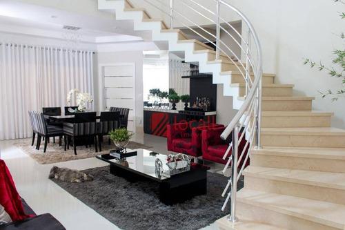 casa com 4 dormitórios à venda, 395 m² por r$ 1.680.000 - condominio village dhama - mirassol/sp - ca1776