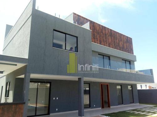 casa com 4 dormitórios à venda, 400 m² por r$ 1.950.000 - recreio dos bandeirantes - rio de janeiro/rj - ca0461