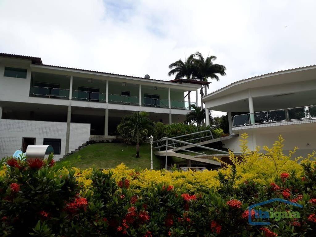casa com 4 dormitórios à venda, 500 m² por r$ 3.200.000,00 - lauro de freitas - lauro de freitas/ba - ca0170