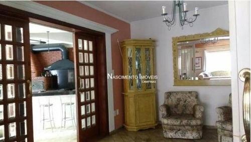 casa com 4 dormitórios à venda, 528 m² por r$ 1.486.000 - parque são quirino - campinas/sp - ca0317