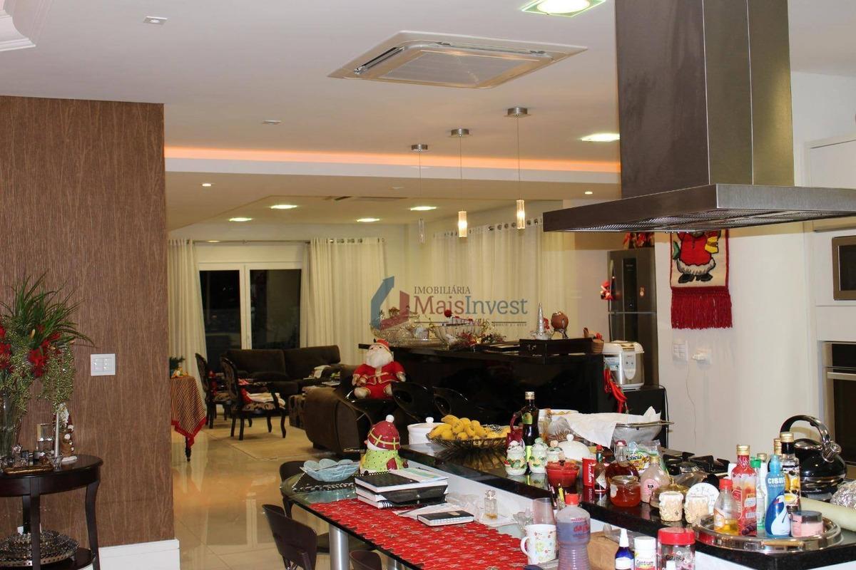 casa com 4 dormitórios à venda, 579 m² - alphaville graciosa - pinhais/pr - ca0025
