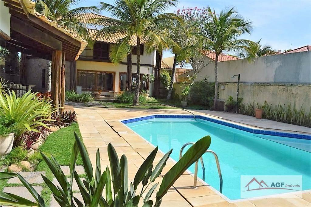 casa com 4 dormitórios à venda, 600 m² por r$ 7.200.000 - itacoatiara - niterói/rj - ca0255