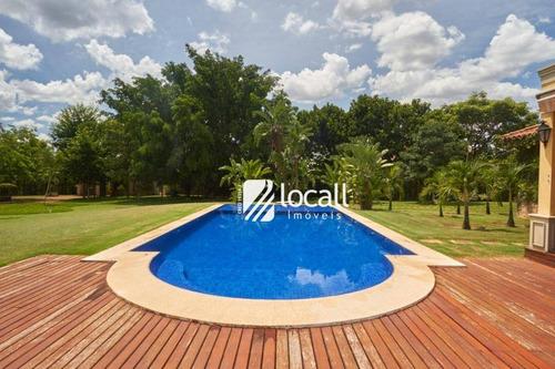 casa com 4 dormitórios à venda, 700 m² por r$ 3.500.000 - zona rural - mirassol/sp - ca1955