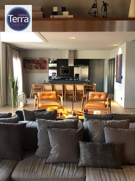 casa com 4 dormitórios à venda e locação, 410 m² por r$ 1.800.000 - parque das artes - granja viana - ca1520