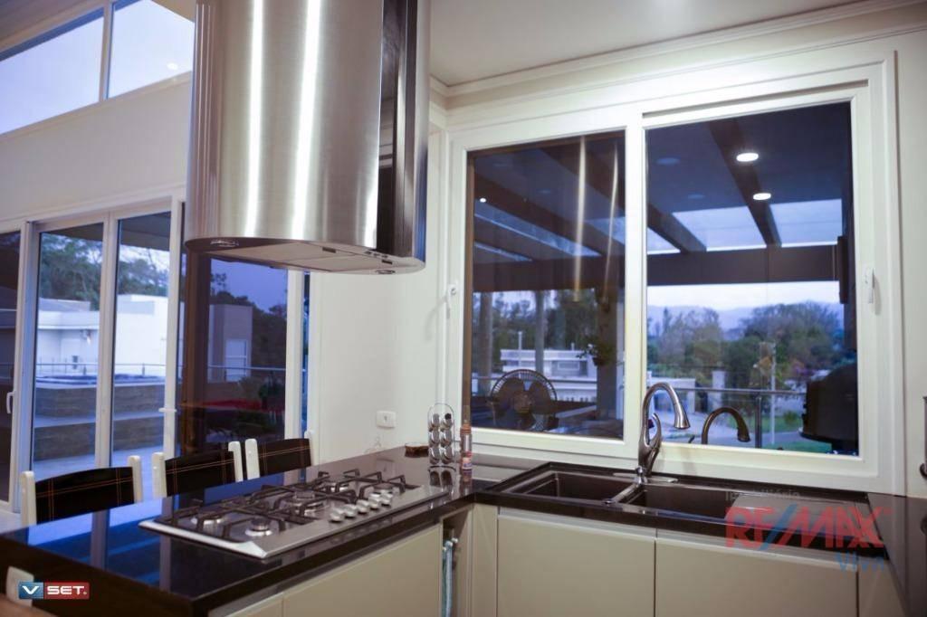 casa com 5 dormitórios à venda, 378 m² por r$ 3.400.000 - resid fazenda do porto - atibaia/sp - ca4969