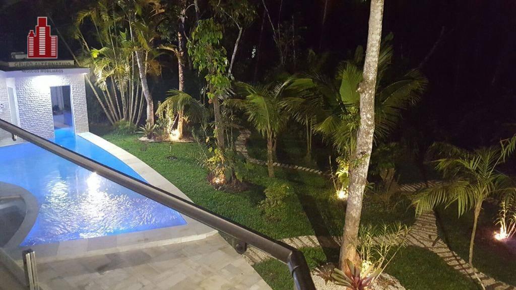 casa com 5 dormitórios à venda, 470 m² por r$ 4.200.000,00 - revieira são lourenço - bertioga/sp - ca0003