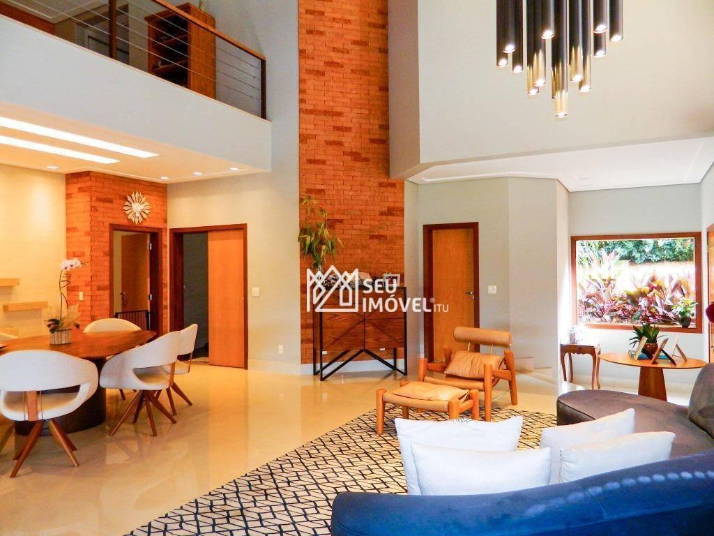 casa com 5 dormitórios à venda, 840 m² por r$ 4.800.000,00 - fazenda vila real de itu - itu/sp - ca0761