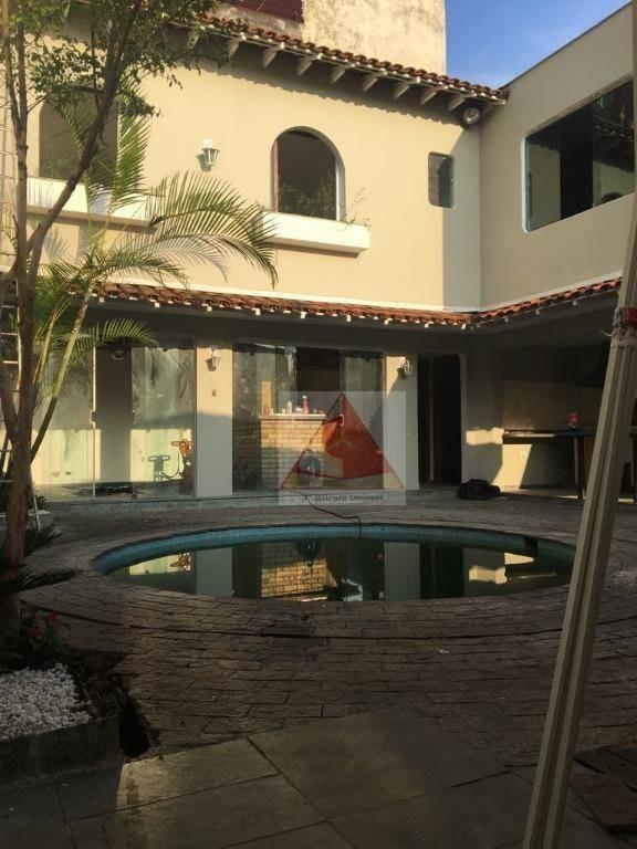 casa com 6 dormitórios brooklin paulista - lazer completo - 6 vagas de garagem. - ca0446