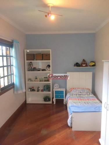 casa com 6 dormitórios para alugar, 400 m² por r$ 4.900/mês - condomínio aruã - mogi das cruzes/sp - ca1442