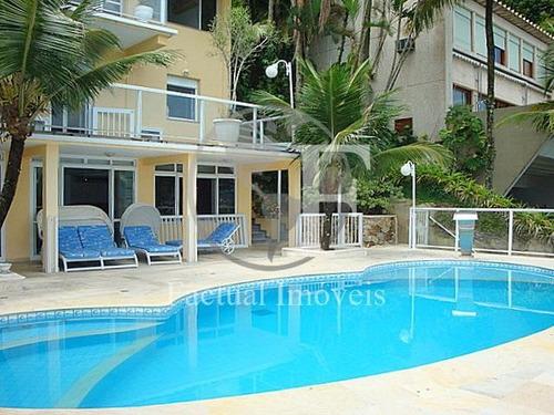 casa com 7 dormitórios à venda, 535 m² por r$ 7.500.000 - península - guarujá/sp - ca2855