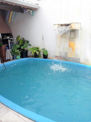 casa com piscina, churrasqueira na praia em itanhaém