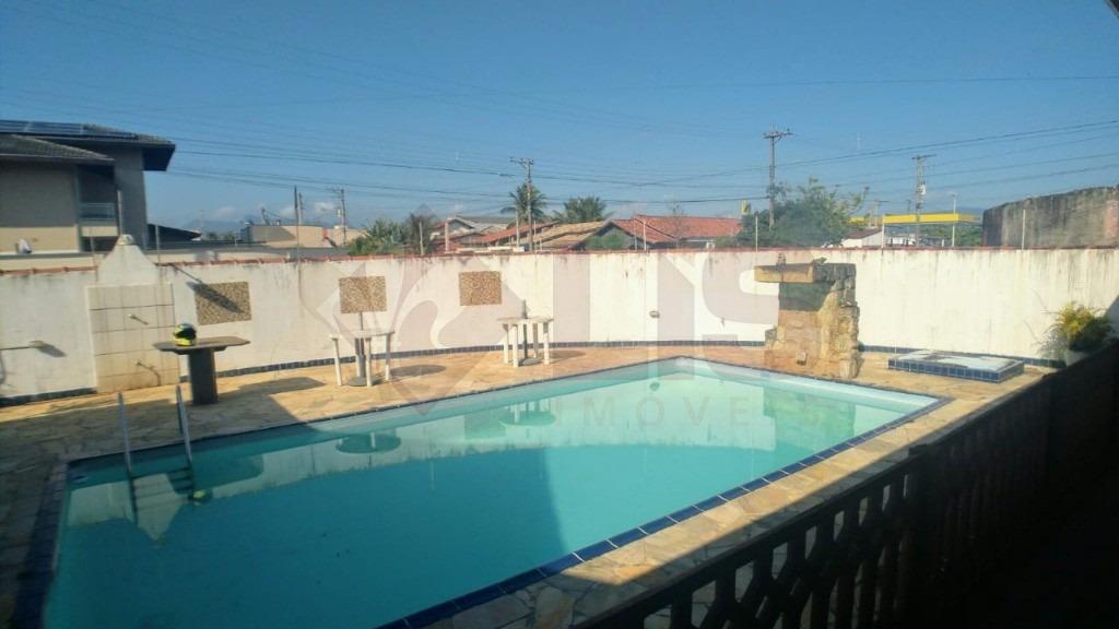 casa com piscina e amplo terreno no jardim britania em caraguatatuba - ca01164 - 32784642