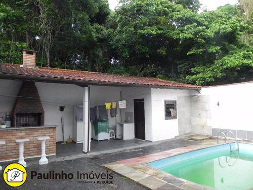 casa com piscina e terreno de 500m² a venda na reserva ecológica do guarau, praia de peruíbe. - ca01712 - 2425890