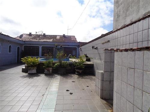 casa com piscina em mongaguá!!!! r$ 250 mil ref. 4856