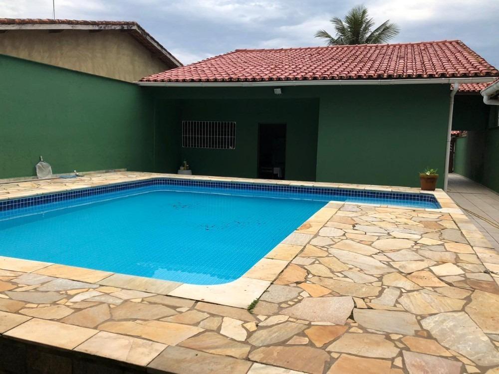 casa com piscina itanhaém, 150 metros da praia