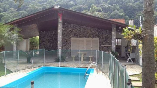 casa com pisicina no guaiuba- guarujá - 943