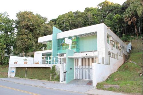 casa com salas prontas para consultório odontológico para alugar, 465 m² por r$ 10.000/mês - garcia - blumenau/sc - ca0972