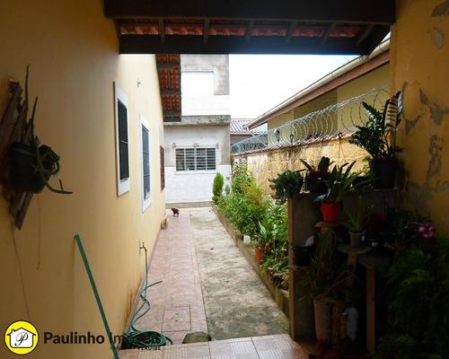 casa com terreno inteiro, espaço para piscina e edícula assobradada à venda na cidade de peruíbe. - ca03132 - 33718926