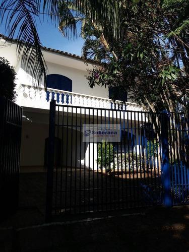 casa comercial ou residencial  com 6 salas. 04 vagas para alugar, 250 m² por r$ 3.800/mês - nova campinas - campinas/sp - ca3402