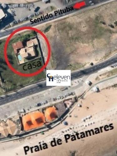 casa comercial para locação patamares, salvador, 10 dormitórios sendo 6 suítes, 5 salas, 11 banheiros, 12 vagas, 600 m² construída, 986 m² área total do terreno. - ca00150 - 32361653