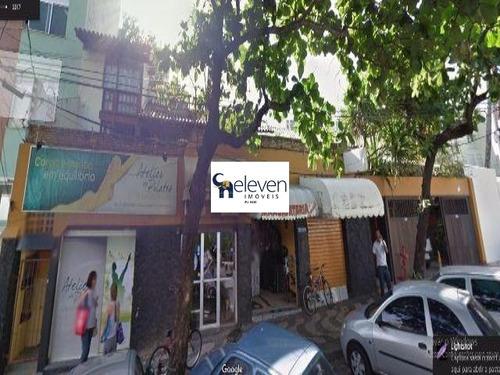 casa (comercial + residencial) para locação pituba, salvador com:1.200 m² e 4 vagas. - tot1336 - 4923573