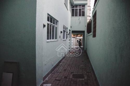casa comercial à venda, 500 m² por r$ 3.700.000 - icaraí - niterói/rj - ca0910