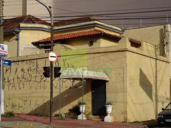 casa  comercial à venda, esquina br. jaguara/aquidaban, centro, campinas. - ca0442