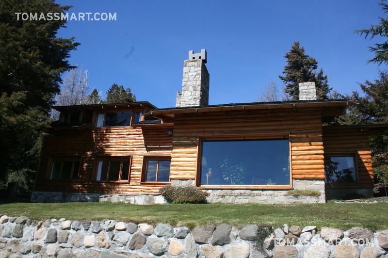 casa  con costa de lago a 6 km del centro- bariloche