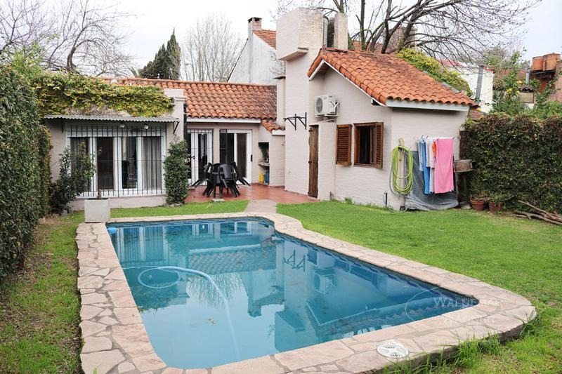 casa con jardín y pileta - beccar, san isidro