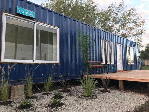 casa containers  de  dos o tres ambientes estio minimalista