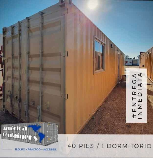 casa contenedor 40 pies - 1 dormitorio,baño y cocina/comedor