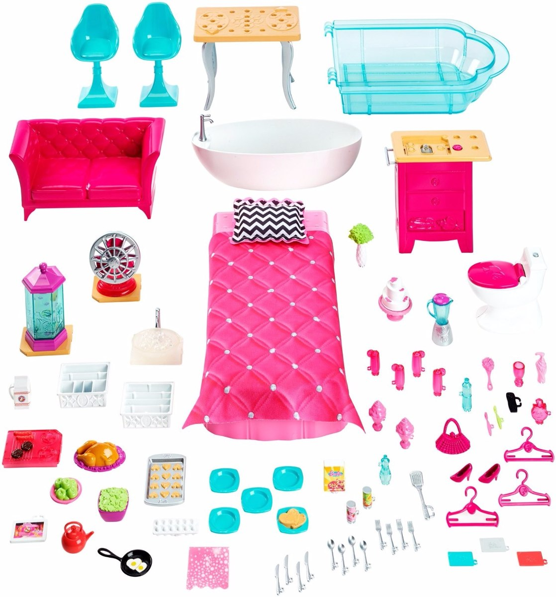 Casa da barbie 3 andares house dreamhouse frete gratis r for Casa accessori