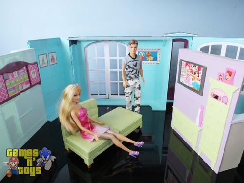 casa da barbie com barbie ken sala quarto cozinha banheiro