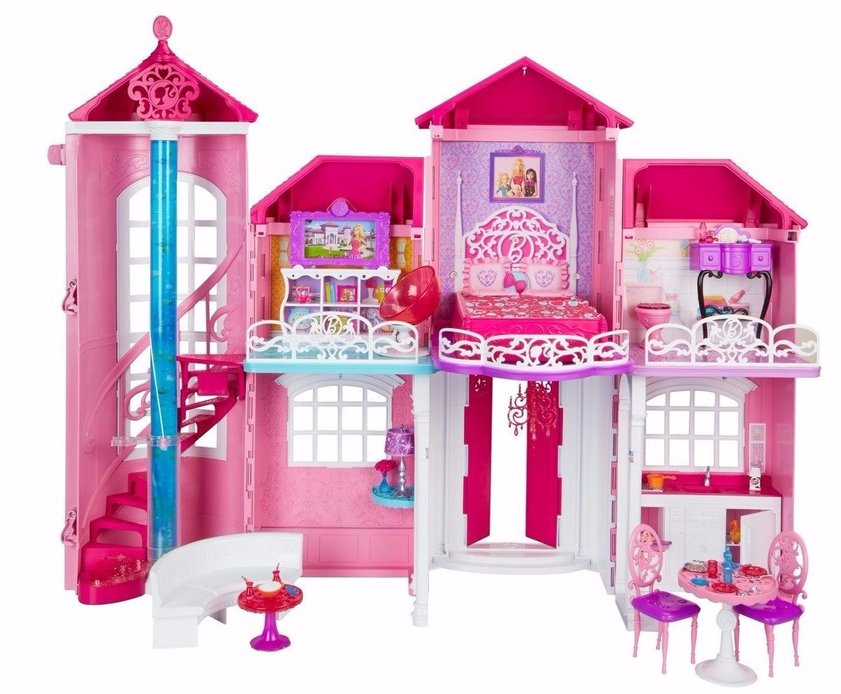 casa da barbie em malib 3 andares mans o gigante pronta. Black Bedroom Furniture Sets. Home Design Ideas