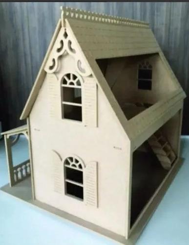 casa da barbie em mdf 6mm 74x76x66 cm...