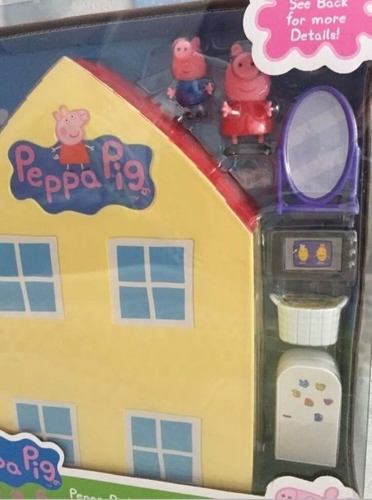 casa da peppa pig + 17 bonecos de amigos e família 194-2