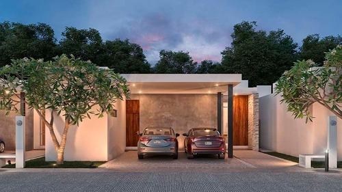 casa de 1 planta en preventa en alba residencial en conkal mod. 225