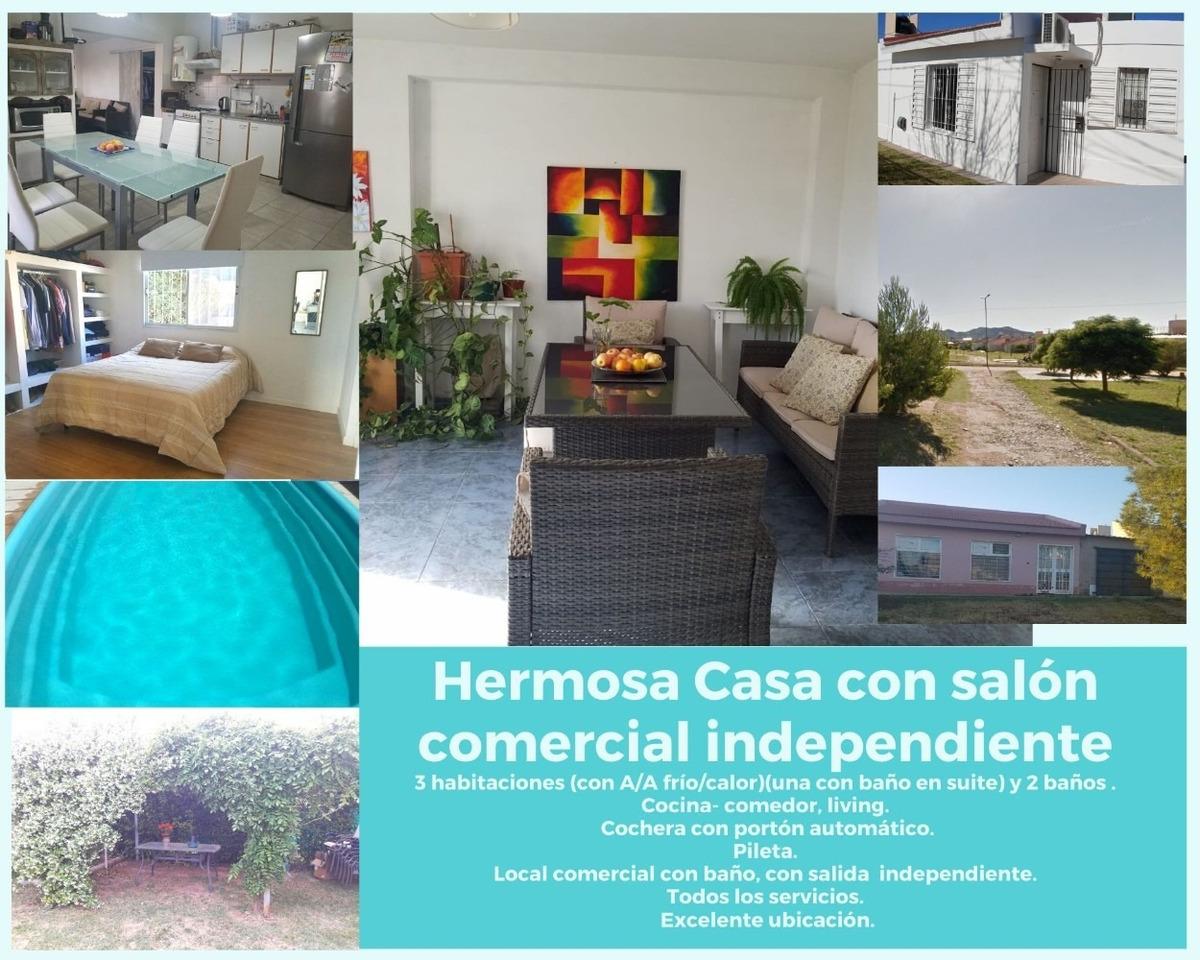 casa de 3 habitaciones con local comercial independiente