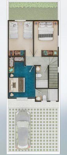 casa de 3 rec, modelo residencial,
