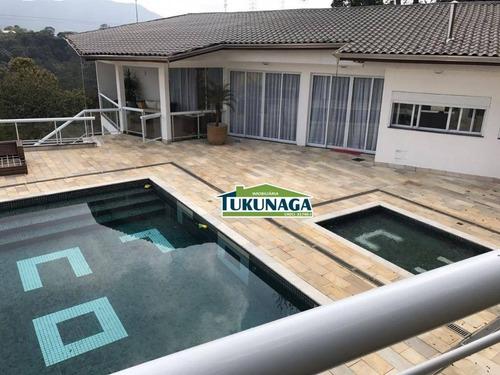 casa de alto padrão - condomínio fechado - estancia da serra - ca0272