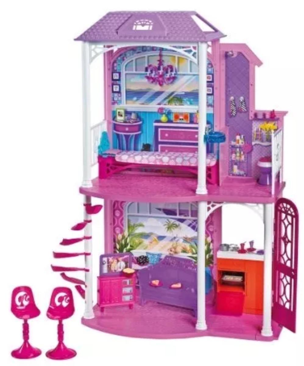 Casa de barbie de playa 2 juguete ni as en mercado libre - La casa de barbie de juguete ...
