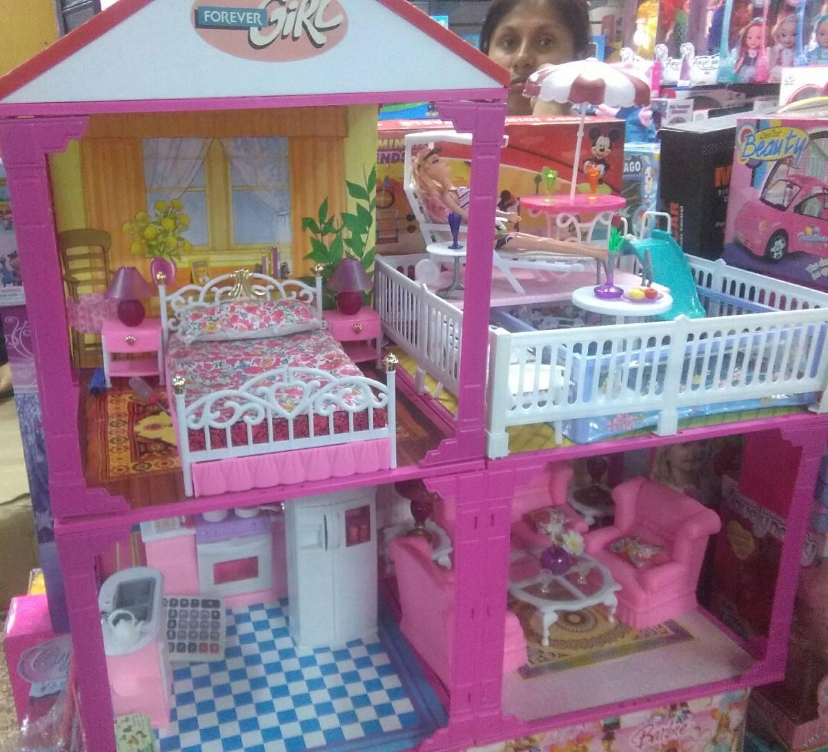 Casa de barbie equipada s 259 00 en mercado libre - La casa de barbie de juguete ...