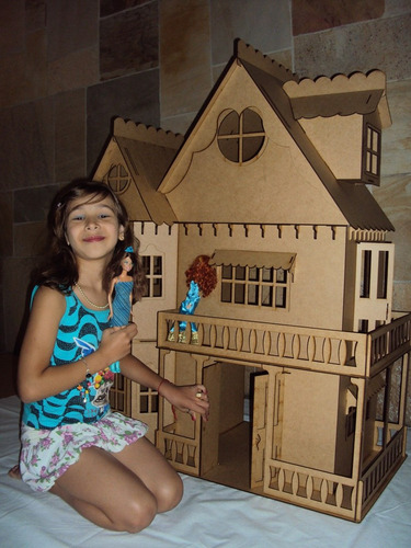 casa de boneca casinha de bonecas barbie emily mdf cr