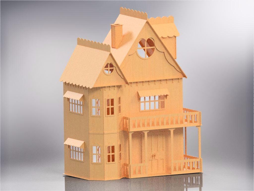 1d99d0f7c casa de boneca casinha de bonecas barbie emily mdf cr. Carregando zoom.