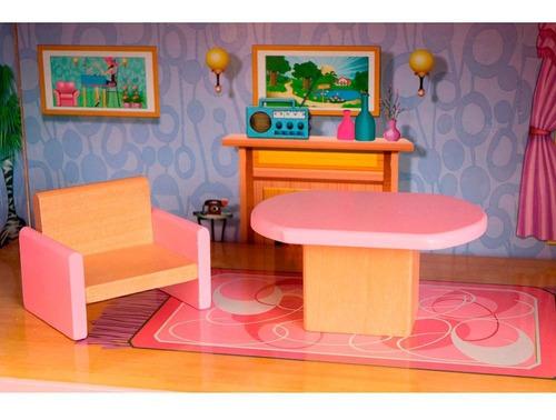 casa de boneca casinha de bonecas portátil maleta 39 cm