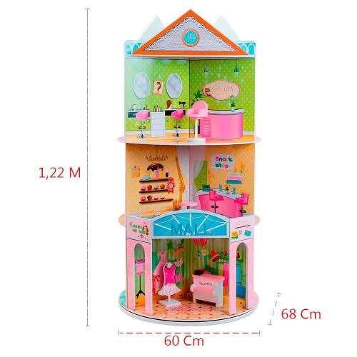 casa de bonecas 122 cm rosa triplex móveis barbie susi size