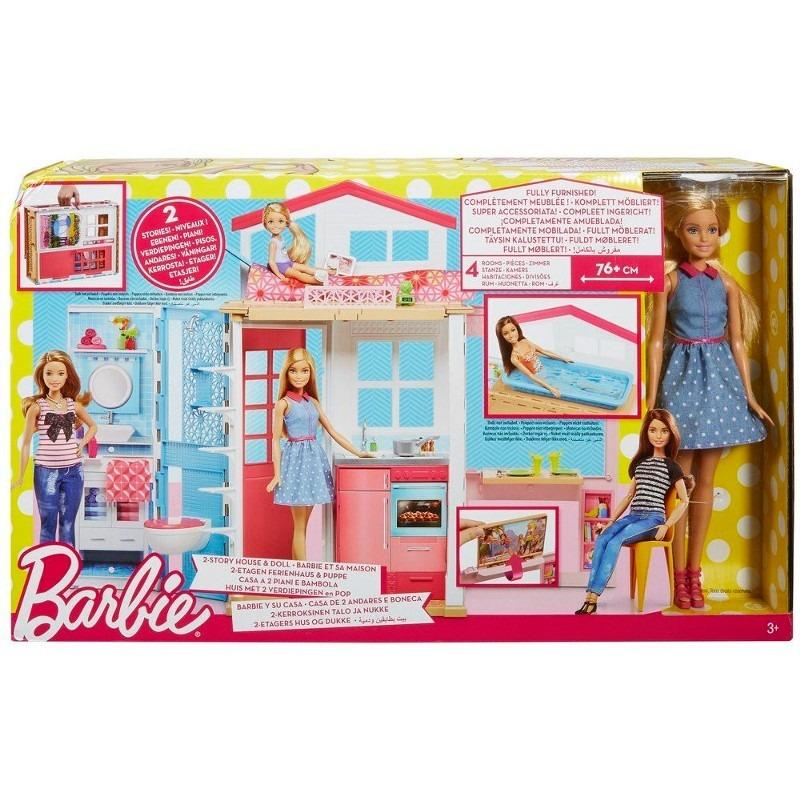Casa de bonecas barbie barbie real e sua casa mattel r 449 90 em mercado livre - La casa de barbie de juguete ...