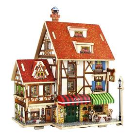 Casa De Bonecas Miniatura C/ Mobília Para Montar