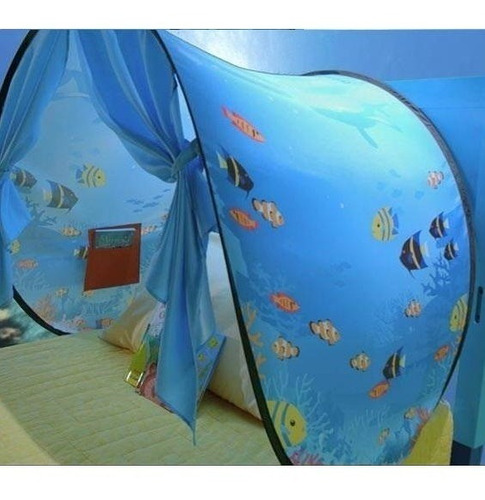 casa de cama bajo del mar peces dormir niños kids